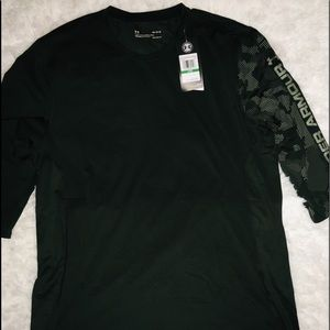 """Under Armour Olive 3/4"""" Sleeve Active Gear Shirt L"""